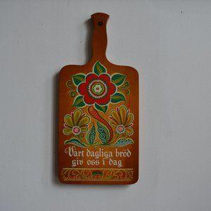 Vintage 70s Lords Prayer Decorative Cutting Board